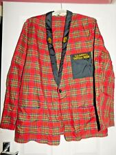 More details for vintage younger's tartan barman's jacket scottish ale collectable breweriana