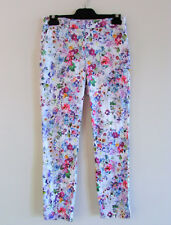 Forever New Size 6 Watercolour Floral Print Tailored Tapered 7/8 Slim Fit Pants