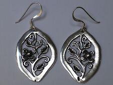Handgearbeitete 925 Sterling Silber Ohrringe mit niedlicher Blume