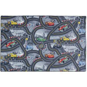 Kinderteppich Disney CARS Teppich Straßen Spielteppich Farbe grau 3 Größen