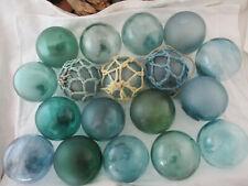 New listing 18 Vintage Japanese Glass floats <'}< Big Variety Alaska Beachcombed