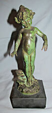 Edward Henry Berge (American 1876-1924)  Violet Bronze Statue Water Nymph