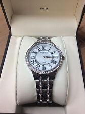 Anne Klein New York Womens Stainless Steel Crystal Silver Watch 12/2265 MPSV