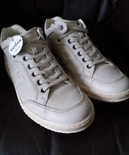 Para hombres Cuero Blanco HOGAN Off Zapatillas/Zapatillas/Zapatos Talla Uk 7