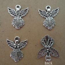 PJ088 10pcs Tibetan Silver Charm Angel Jewelry Accessories Bead Wholesale
