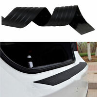 Car Rear Bumper Sill Protector Plate Rubber Cover Guard Back Door Boot Trim