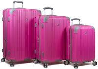 Dejuno Kingsley 3-Piece Hardside Spinner Luggage Set With TSA Lock - Pink