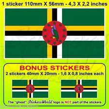 DOMINICA Flag Dominique Dominican Commonwealth 110mm Sticker Decal x1+2 BONUS