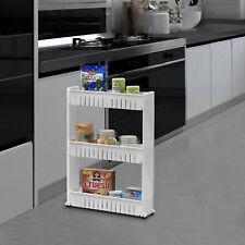 en.casa® Rollregal Küchenregal Nischenregal Allzweckregal Etagenwagen 3 Etagen