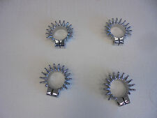 MOTORCYCLE EXHAUST FLANGES***TRIPLE CHROME PLATED***SET OF 4***