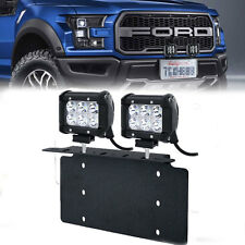 For Ford Truck&Car Pair 18W LED Light Bar USA Front License Plate Mount Bracket