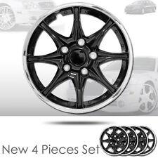 New 15 inch Black Hubcaps Wheel Covers Full Lug Skin Hub Cap Set 522 For Kia