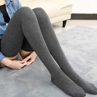 Women Long Socks Over The Knee Striped Thigh High Stocking Winter Warm Socks