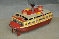 Rare Vintage Windup C.K T Prewar Hendrik Hudson Litho Ferry Boat Tin Toy Japan