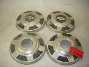 1973-87 CHEVROLET C10 K20 PICKUP 4X4 (4) HUB CAPS WHEEL COVERS SET USED 42721-16