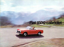 FIAT 1500 CADDY 1964-65 UK MARKET FOLDOUT SALES BROCHURE