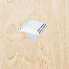 "Kitchen Cabinet Hardware Square Knobs kt51 Polished Chrome pull 1-1/8"""