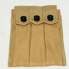 WWII US ARMY THOMPSON MAGAZINE POUCH 3 CELL 30 ROUNDS-1591