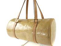 Authentic LOUIS VUITTON BEDFORD Beige Vernis Hand Bag Purse LH4520L