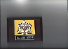 BALTIMORE FIRE BOAT PLAQUE FORT McHENRY FB-1 FIREBOAT MARINE UNIT PHOTO PLAQUE