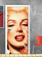 PT0050 Wall Stickers Adesivi Murali Adesivo Porta Marilyn Monroe 100x210cm