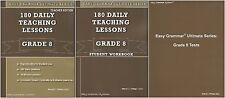 Easy Grammar Ultimate Series: 180 Daily Grade 8 SET of 3-Workbook, Tests, TE