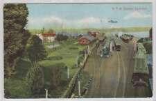 B9732: 1911 Hamilton, Canada Train Yard Postcard