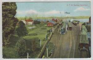 B9732 : 1911 Hamilton, Canada Train Coudée Carte Postale
