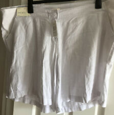 BNWT NEXT MATERNITY SIZE 22 WHITE LINEN LOOK SHORTS