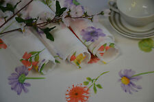 Platzset 4er Pack Platzdeckchen Platzdecke Blume Landhaus ca. 32/45 cm Weiß/Bunt