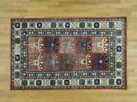 """5'1""""x8'2"""" HandKnotted Turkoman Ersari 100 Percent Wool Oriental Carpet G33447"""