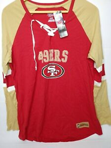 NWT San Francisco 49ers Majestic Women's Draft T-Shirt Jersey Top -Red Gold XXL