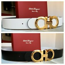 New Authentic Reversible Salvatore Ferragamo Belt 90 cm fits 30-32