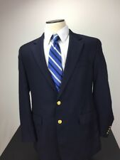 Lauren Ralph Lauren - 42R - 100% Wool Blue 2-Button Blazer with Gold Buttons