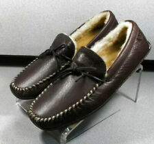 300152 TSP50 Men's Shoes Size 9 M Brown Leather Slip On H.S. Trask