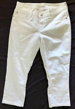 Seven 7 Women's White Jean Capris Size 6 Cropped Pants