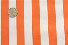 ORANGE WHITE STRIPE CABANA SUMMER PICNIC DINE OILCLOTH VINYL TABLECLOTH 48x72