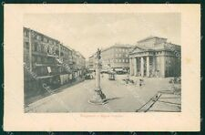 Trieste Città Tergesteo e Borsa RETRO BIANCO cartolina KF2402