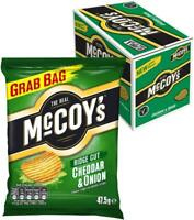 McCoy's Ridge Cut Crisps, Cheddar & Onion Flavoured Potato Crisp Snacks, 36pk