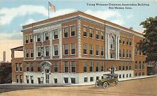 Des Moines Iowa~YWCA~Young Women's Christian Assn~Vintage Car in Street~1910 PC