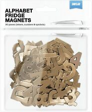 Shot2go Pack of 90 Metallic Magnetic alphabet letters numbers & symbols - Copper
