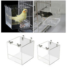 New listing Clear Bird Bath, Finch Canary Budgie Large / Small - Hook On External Cage