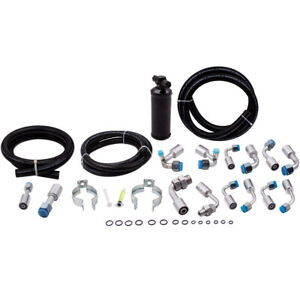 Universal 134a Air Conditioning AC Hose Kit Beadlock Fitting With Coated Drier