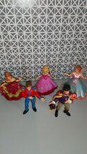 Lot de 5 figurines 3 princesses et 2 Princes Papo 2003
