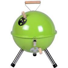 Mini BBQ Grill Holzkohle Kugelgrill grün 30 cm Kompaktgrill Picknickgrill