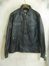 VINTAGE Distressed Harley Davidson Leather Motorcycle Overhead Jacket Size XL