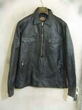 VINTAGE Distressed Harley Davidson Leather Motorcycle Overhead Jacket Size XL