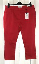 """DP Eden Ladies Dark Red Cropped Jeans Size 16 34"""" Waist RRP £16"""