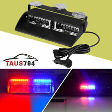 "8.6"" 16 LED Red/Blue 19 Flashing Modes Emergency Dash Warning Strobe Flash Light"