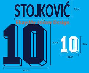 STOJKOVIC' #10 YUGOSLAVIA Away World Cup 1994 VELVET FLOCK NAME NUMBER PRINT